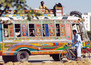 Colourful bus of the Indian Subcontinent